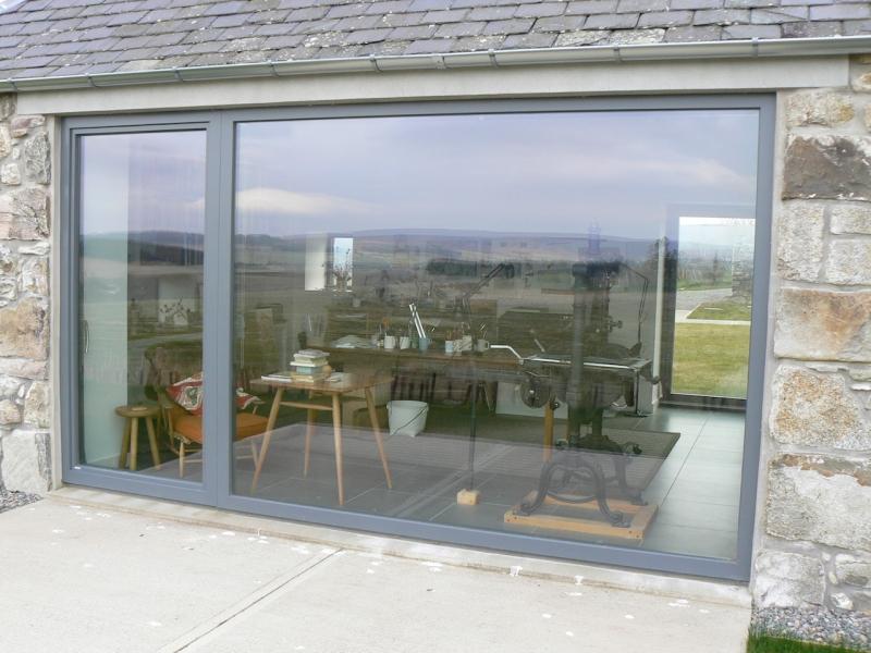 Farm House near Granton on Spey, fix glass